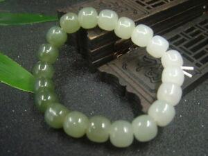Chinese Antique Celadon Nephrite Hetian Jade especial Statue/ Bracelets982