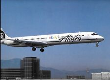 "ALASKA AIRLINES MD-80 1996 J.JOHNSON PHOTO AIRLINERS CALENDAR PHOTO 14"" X 9.5"""