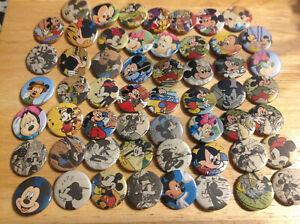 Bouton PINS environ 2.54 cm 1 in Disney personnalisé nom Bouton PINS Bon état vendeur. Lot de 25
