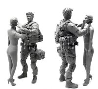 █ 1/35 Resin US Soldier W/Wife Unpainted Unassembled YF125