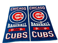 Two Vibrant Chicago Cubs Beach Towels NWT Authentic Wincraft 30 X 60 Size Sale