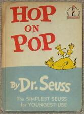 HOP ON POP ~ DR. SEUSS ~ SIMPLEST SEUSS FOR YOUNGEST USE ~ ILLUS 1963 ~ BCE