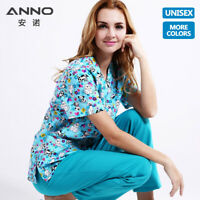 ANNO Unisex Medical scrubs Nursing Uniforms Hospital Clothing Surgical Gown