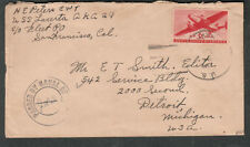 1-31-45 WWII Naval censor cover H E Peters CWT USS Lacerta AKA-29 Pearl Harbor ?