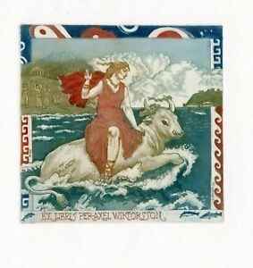 Europa and Bull, Mythology Ex libris Etching by David Bekker