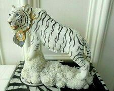 More details for standing white snow tiger sculpture ornament large figurine regency fine arts