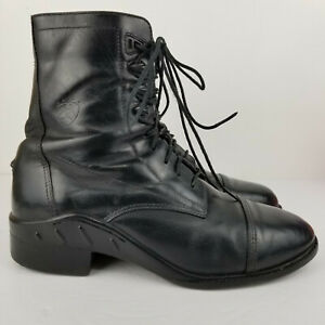 Ariat Mens Lace Up Performer Pro Riding/Paddock Boots ATS size 9.5 D - Black