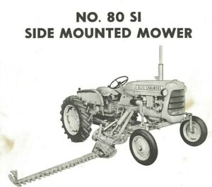 Allis Chalmers No. 80 Si Side Mounted Sickle Mower Owner's Parts Manual Highway