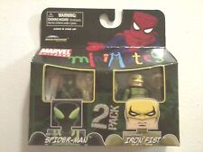 2011 MiniMates Marvel Big-Time Spider-Man & Shadowland Iron Fist (New)