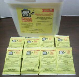 Just One Bite II Pellet Packs 8 Packs FREE SHIP 1.5 oz packs Rat & Mouse Poison