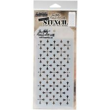 Tim Holtz Layered Stencil 10cm X 22cm -crossed. Stampers Anonymous