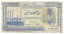 Libya Libia Libyan 1/4 Pound 1951 P7 VF King Idris Era Currency Rare Free Post