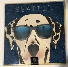 Seattle Dalmatian Greeting Card Blank Card Blue Sparkle Gold Niquea.d Papyrus