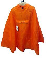 Vaude Valdipino Sleeveless Hooded Rain Cape - Orange - Large - Old Stock