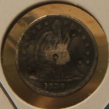 1839~SEATED LIBERTY HALF DIME~~SILVER~~KEY DATE~~AG-G