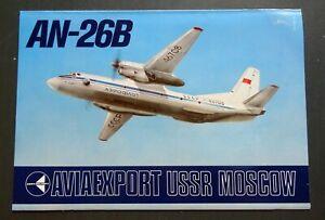 AN-26B Russian Advertising Booklet Air Plane aircraft Aeroflot  USSR Aviaexport