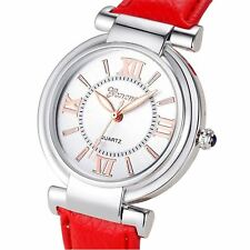 Ladies Girls Analogue Smart Rose Gold Silver Watch Watches Kids White Red Strap