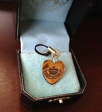 NEW JUICY COUTURE SIDEKICK ll ROYAL HEART CHARM FOR BRACELET/NECKLACE