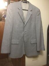 Baroni Couture Blazer Super 150s Size 38R Wool Light Gray