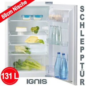 Einbau Kühlschrank 88 cm A+ integrierbar Einbaugerät LED Schlepptür Ignis NEU