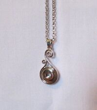 Silver Plated Button Snaps Twirly Mini Petite Necklace - Fits 12mm Ginger Brands
