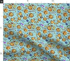 New listing Dice Fantasy Blue Yellow Sorcery Illustration Spoonflower Fabric by the Yard