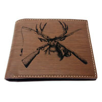 Hunting and Fishing Deer and Fish Men's Wallet Laser Engraved, Gift, Hunter