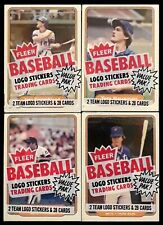 Four 1982 Fleer Baseball Cello Packs - All with New York Mets on Top - NM-MT