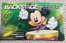Disneyland Backstage Pass Passholder Calendar June - December 2011