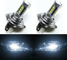 LED 80W 9003 HB2 H4 White 5000K Two Bulbs Head Light Replacement Motorcycle