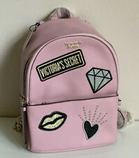 NEW! VICTORIA'S SECRET LIGHT PINK VS PATCH SMALL CITY TRAVEL BACKPACK BAG SALE