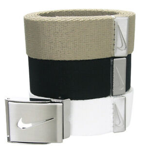 """NWT !! NIKE GOLF MEN'S WEB BELT 3 IN 1 PACK MULTI  COLOR UP TO 42"""" or 52"""""""