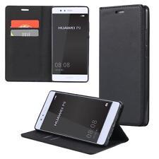 Funda-s Carcasa-s para Huawei P8 Libro Wallet Case-s bolsa Cover Negro