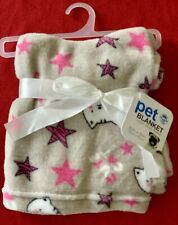 "Adorable Pet Blanket with 'Cute Cat logo' 30"" x 30"" Super Plush Fleece New"