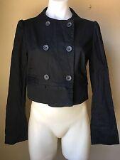 Banana Republic Size M Casual Cotton Blend Blazer Jacket Button Black
