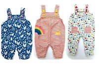 New Dungarees Jersey Print Baby Girls Dungarees Ex Boden Age 0-24 Months RRP £22