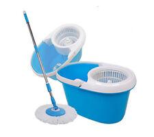 Large Easy Wring Microfiber 360 Rotating Spin Mop Bucket Set Floor Clean Push
