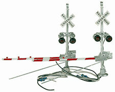 HO Scale LH Grade Crossing Signals w/Red Gates Brass NJ International 1164