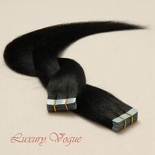 "20"" salon-grade Remy A+ European Hair Seamless Tape-in Extensions #1 (Jet Black)"