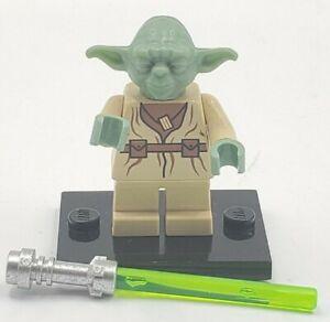 LEGO Star Wars Master Jedi Yoda Minifigure 7103 7260 5402 sw0051 Lightsaber