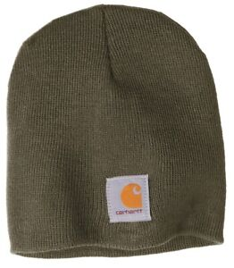 Carhartt Acrylic Beanie Knit Men's Stocking Cap Warm Winter Hat Authentic