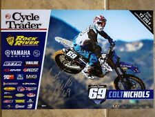 *COLT NICHOLS*SIGNED*AUTOGRAPHED*POSTER*YAMAHA*CYCLE TRADER*ROCK RIVER*COA*PROOF