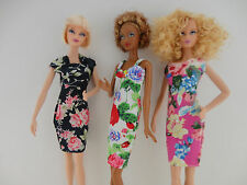 A Set of 3 Cocktail Dresses We Call Floral Fantasy Made to Fit the Barbie Doll