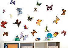 20 BUTTERFLIES DIY Removable Wall Decal