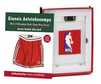 Giannis Antetokounmpo 2013-14 Bucks Game Worn Jersey Mystery Swatch Box #3967610