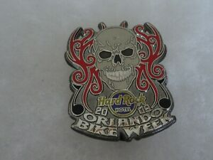 Hard Rock Cafe pin Orlando Hotel Bike Week Skull Shield 2009