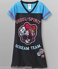 MONSTER High Nightgown Girl's 6/6x NeW Pajamas Pjs Draculaura Frankie Clawdeen