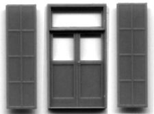 DBL DOOR WITH IRON SHUTTERS HO Scale Model Railroad Structure Parts GL5136