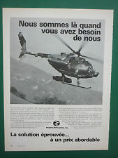 7/1983 PUB HUGHES HELICOPTERS HUGHES 500MD 530 DEFENDER ORIGINAL FRENCH ADVERT