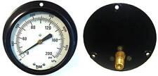 "Marshalltown 3-1/2"" Pressure Gauge 0-200 PSI - 1/4"" NPT"